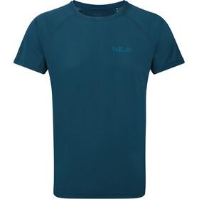 Rab Pulse Camiseta Manga Corta Hombre, Azul petróleo